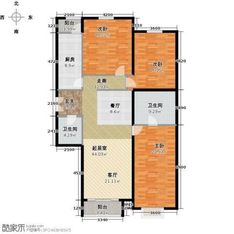 首开・国风上观3室2厅2卫0厨187.00㎡户型图