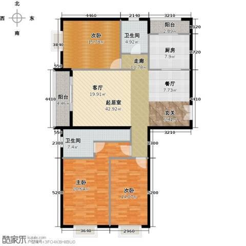 首开・国风上观3室2厅2卫0厨175.00㎡户型图