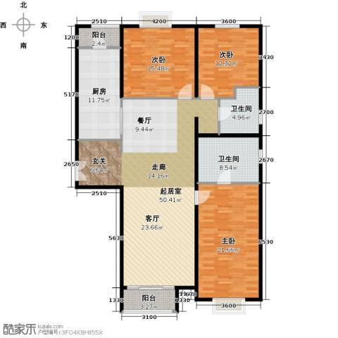 首开・国风上观3室2厅2卫0厨184.00㎡户型图
