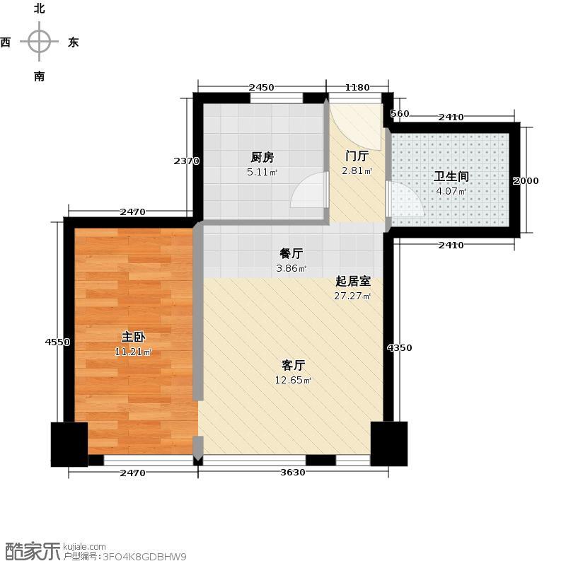 世纪星城・长城国际53.11㎡C户型10室