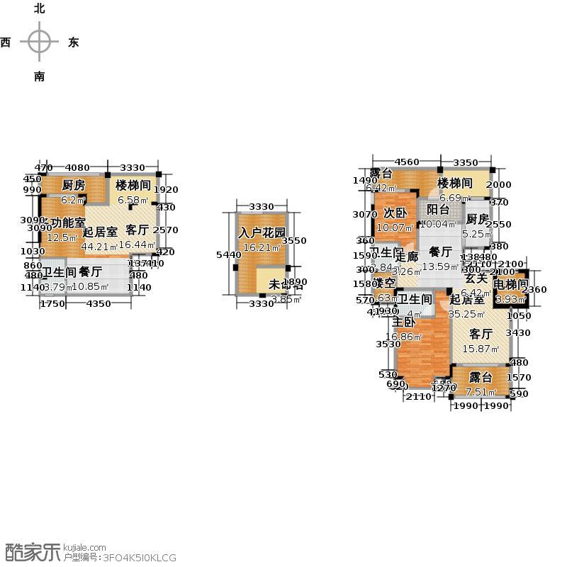 和泓四季86.00㎡一期洋房13栋A型2F标准层户型2室2厅2卫