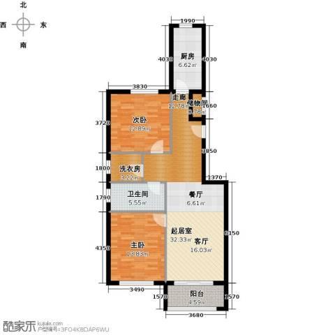 塞纳维拉・永定华庭2室2厅1卫0厨91.00㎡户型图