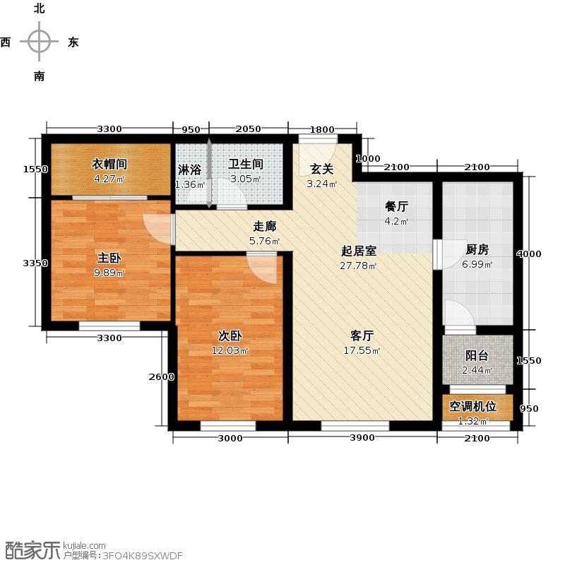 太阳星城3期79.47㎡11、12号楼E户型10室