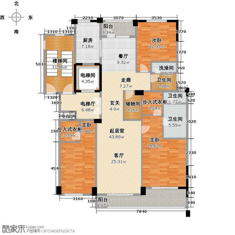 德信臻园168.00㎡C2户型3室2厅2卫