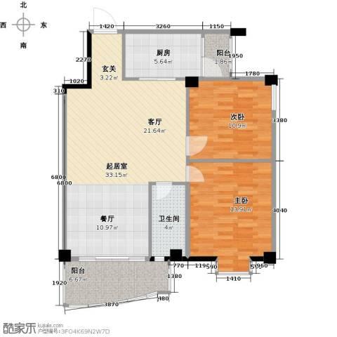 昌泰盛世家园2室0厅1卫1厨104.00㎡户型图