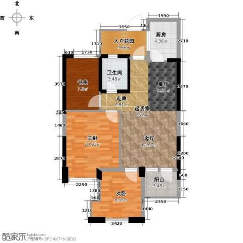东海金沙T台3室2厅1卫0厨89.00㎡户型图