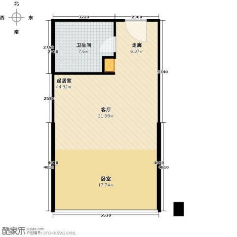 洱海翠湖宾馆69.00㎡户型图