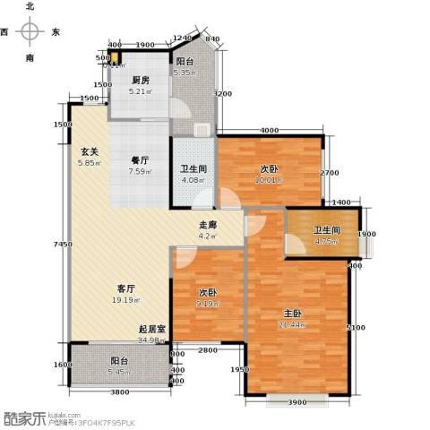 雅居乐云南原乡3室2厅2卫0厨113.00㎡户型图