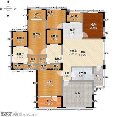 绿城玉兰花园3室2厅1卫0厨135.30㎡户型图