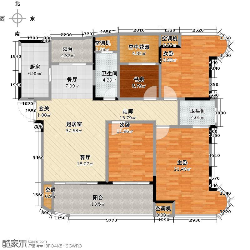 五矿万境水岸141.46㎡C3-3户型4室2厅2卫