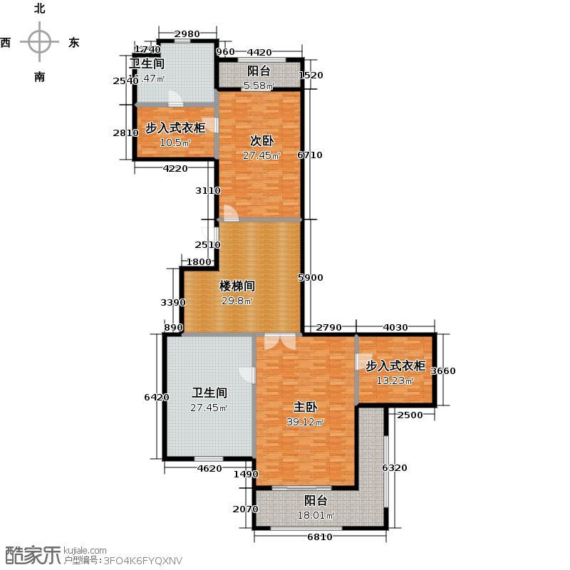 昆仑公馆400.00㎡7号楼【上下】二层户型10室