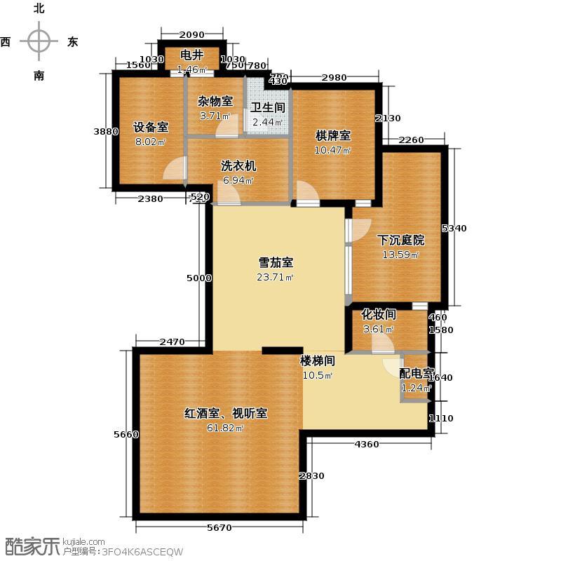 富力湾・半岛别墅126.25㎡G2地下一层户型10室