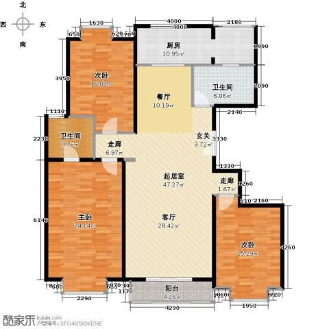 中建群贤汇3室0厅2卫1厨143.00㎡户型图