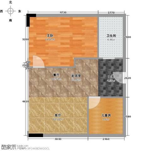 CUV国际公寓74.00㎡户型图