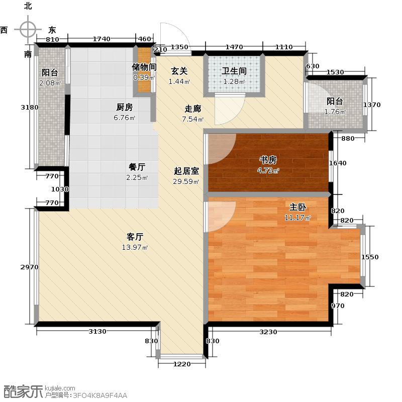 雅世・合金公寓55.81㎡G户型10室
