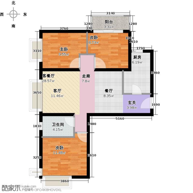 金融街・融汇103.00㎡D户型3室2厅1卫