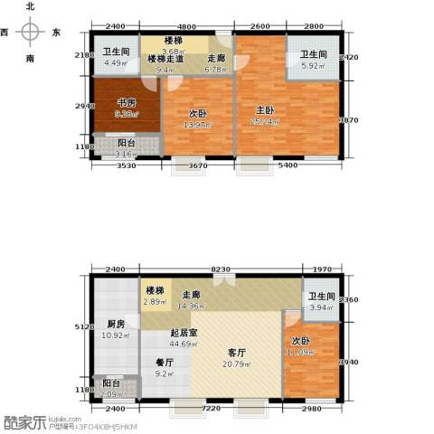 首开・国风上观4室2厅3卫0厨198.00㎡户型图