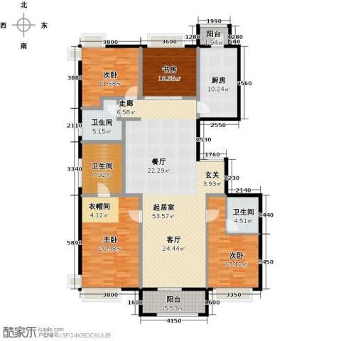 龙湖・长楹天街4室2厅3卫0厨180.00㎡户型图