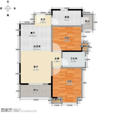 名湖豪庭2室2厅1卫0厨78.00㎡户型图
