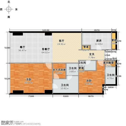 东方之门2室2厅3卫0厨186.00㎡户型图