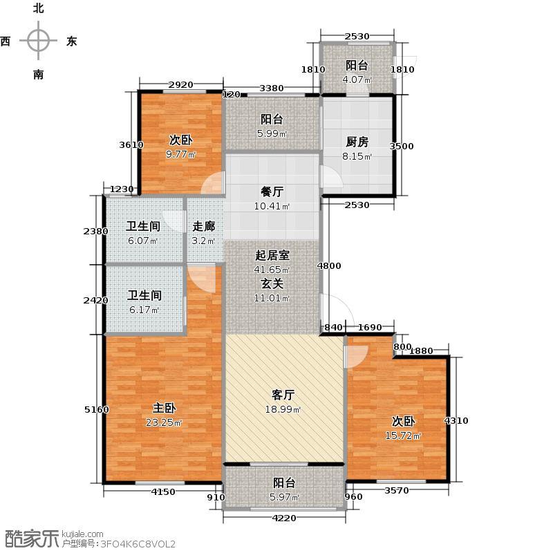 至高钱塘一品137.00㎡C户型3室2厅2卫
