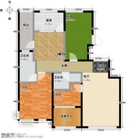 大苑・海淀名著3室2厅1卫0厨116.00㎡户型图