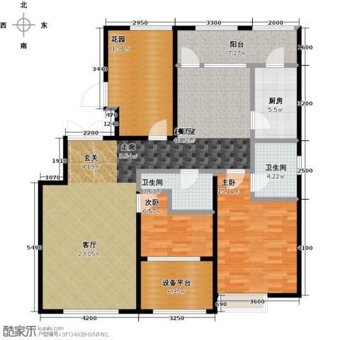 大苑・海淀名著3室2厅2卫0厨123.00㎡户型图