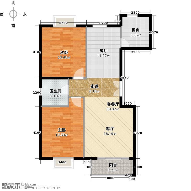 世纪星城・长城国际106.43㎡三期A边标准层户型10室