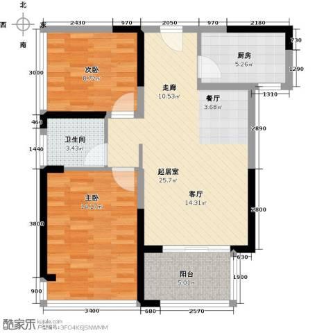 中祥玖珑湾89.00㎡户型图