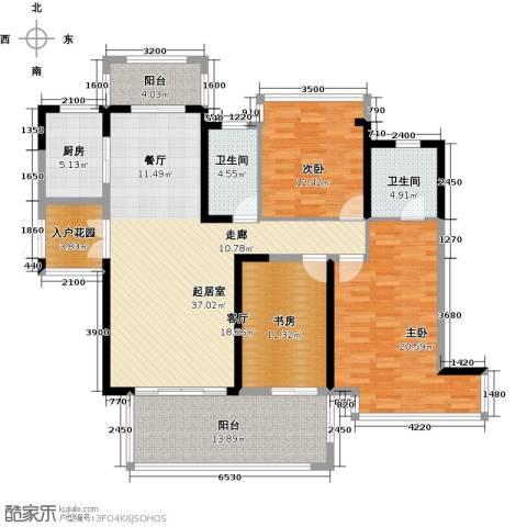 中祥玖珑湾3室2厅2卫0厨168.00㎡户型图