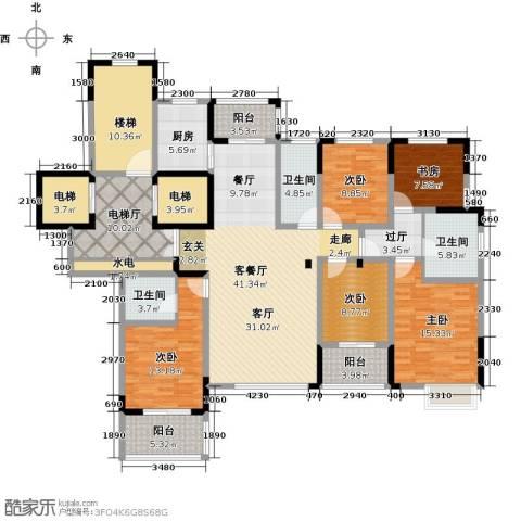 东润枫华5室1厅3卫1厨186.00㎡户型图