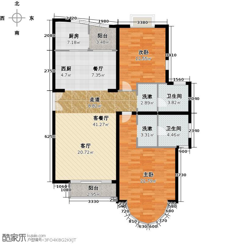 世纪星城・长城国际104.67㎡户型10室