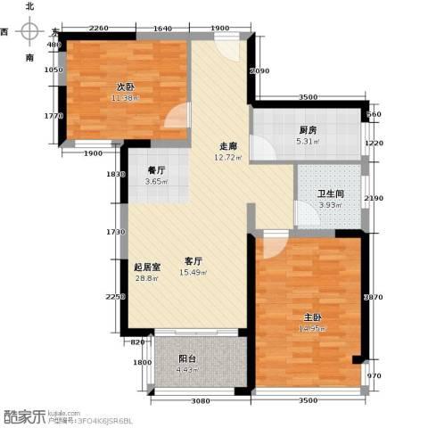 中祥玖珑湾2室2厅1卫0厨98.00㎡户型图