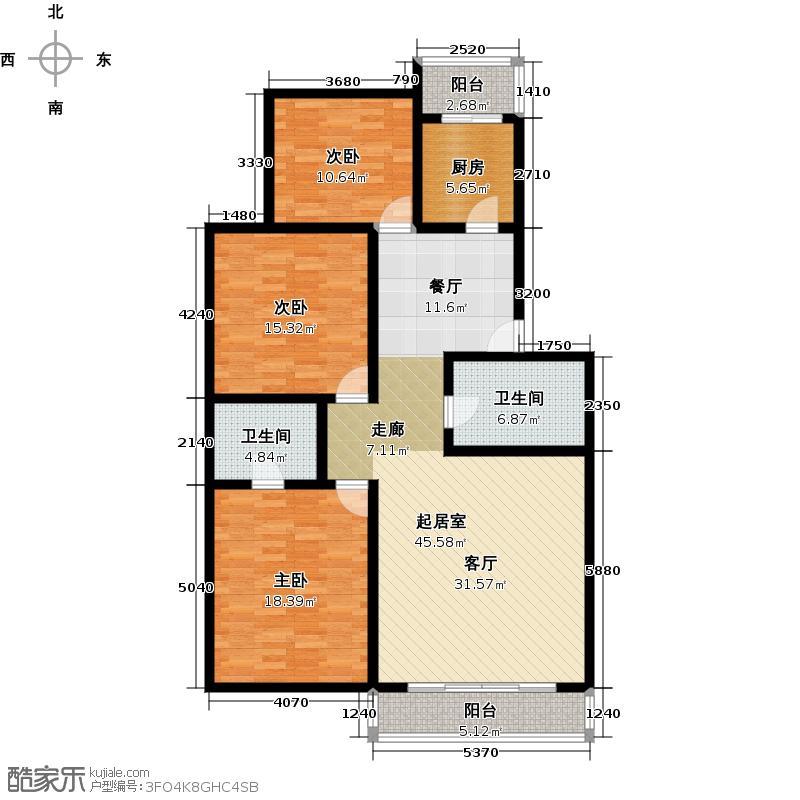 金鑫苑小区131.33㎡户型10室