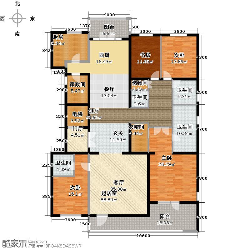 五矿万科・如园290.00㎡A二层户型4室2厅3卫