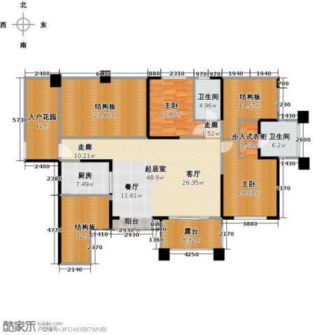 长城半岛城邦2室0厅2卫1厨167.38㎡户型图