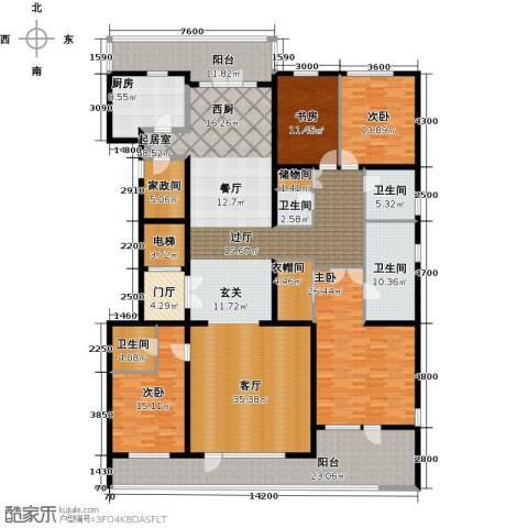 五矿万科・如园4室2厅3卫0厨270.00㎡户型图