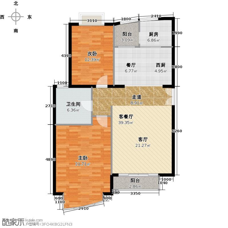 世纪星城・长城国际97.13㎡户型10室