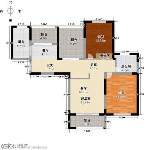东方维罗纳2室2厅1卫0厨101.00㎡户型图