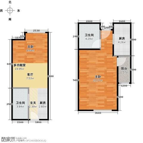 CROSS万象汇2室1厅2卫0厨75.00㎡户型图