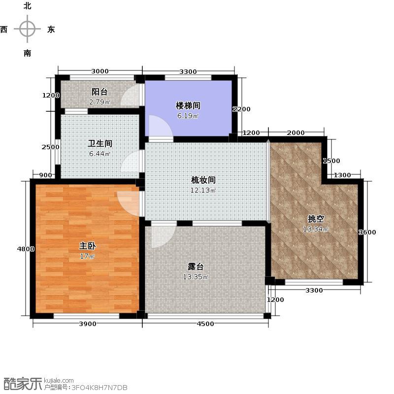 鲁能七号院・颐景润园61.39㎡A5六层户型10室