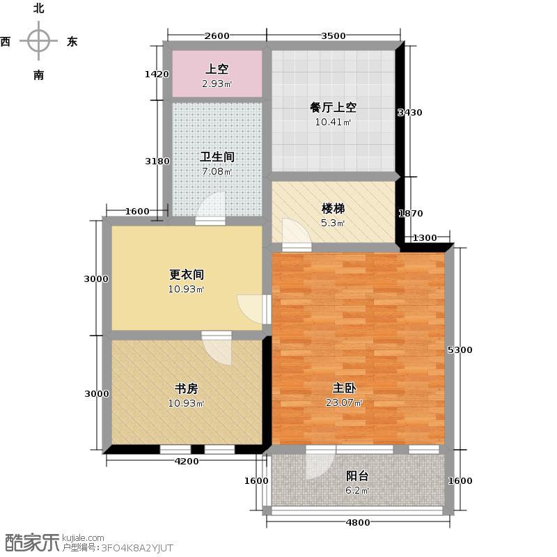 博悦府256.90㎡2号楼B1复式上层户型10室