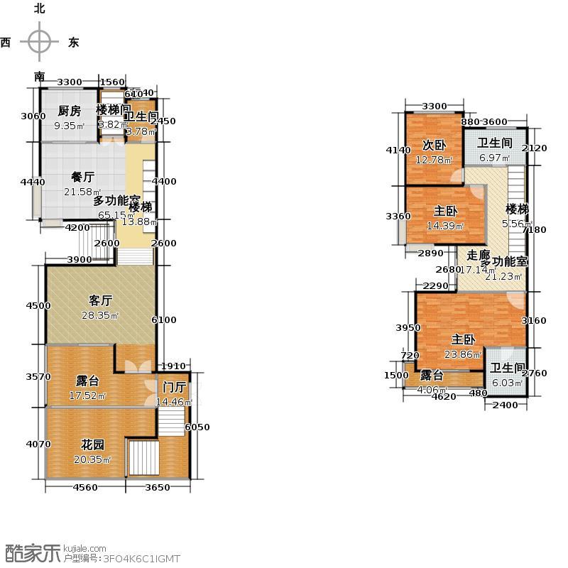 青枫墅园238.44㎡排屋户型10室