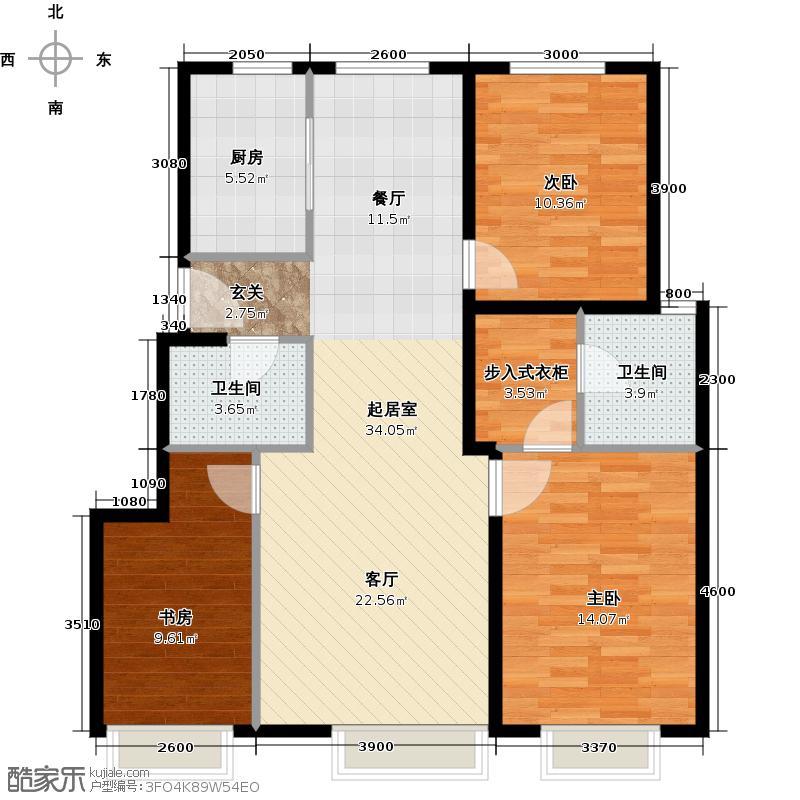 中国铁建国际城109.00㎡3-1户型10室