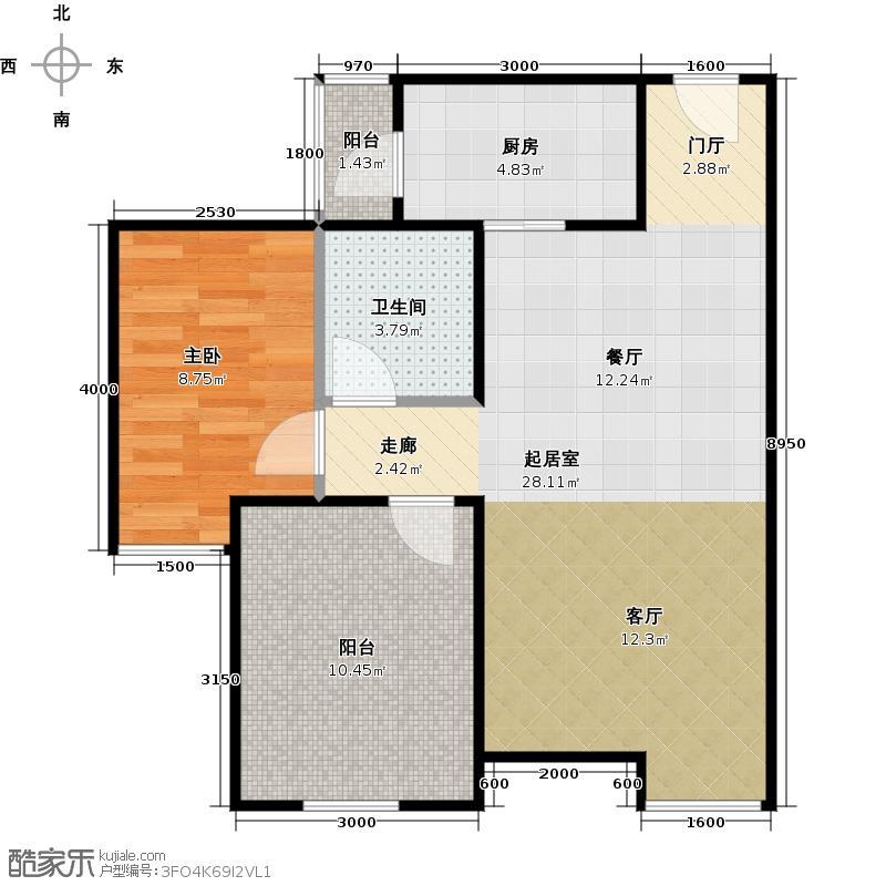 华润二十四城68.00㎡L-1户型10室