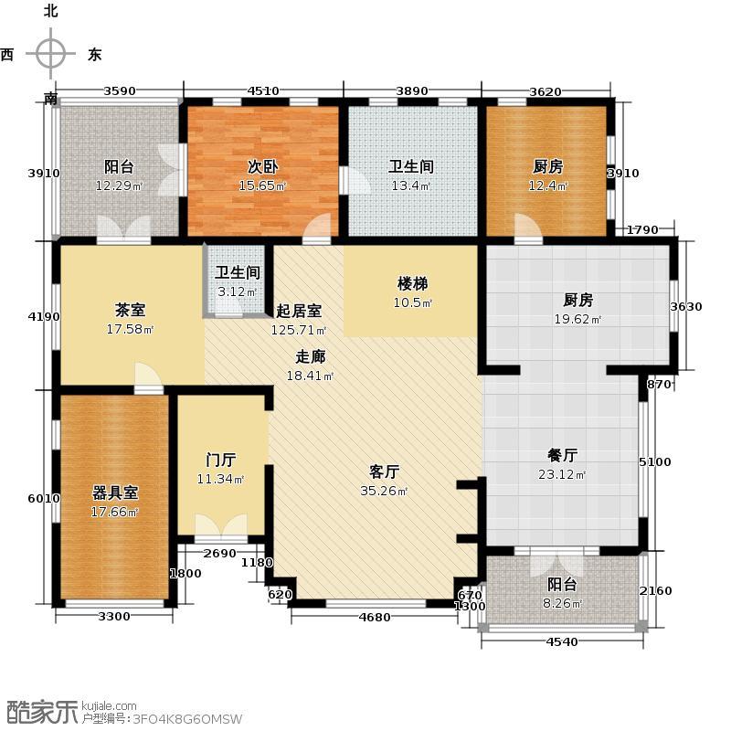 珠江紫宸山230.29㎡K05二层户型10室