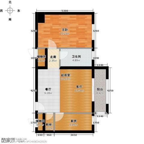 塞纳维拉・永定华庭1室2厅1卫0厨75.00㎡户型图