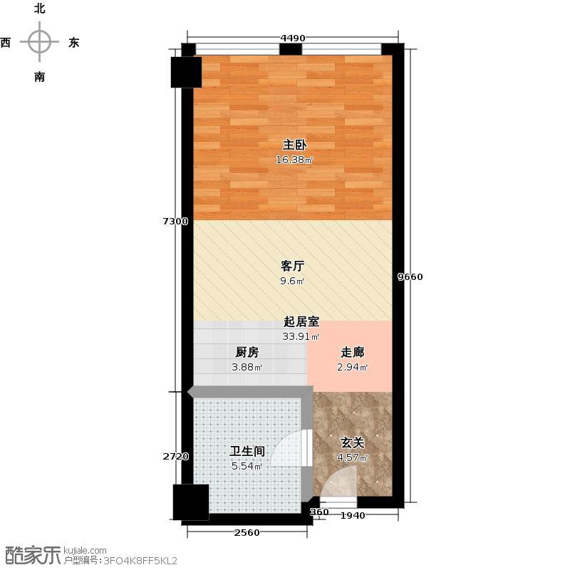金澳国际52.88㎡A、D、E、F户型10室