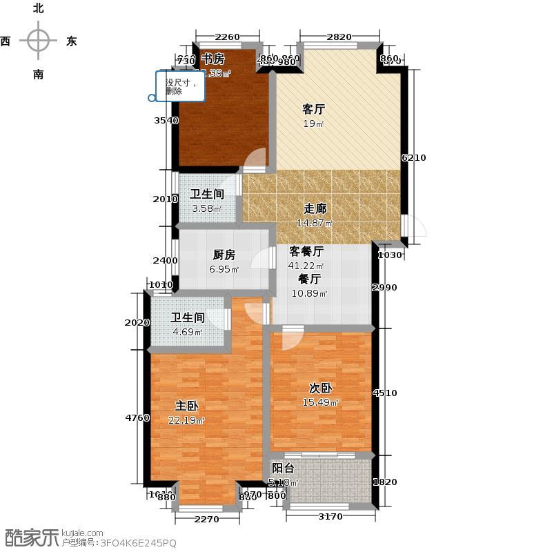 凯悦中心127.00㎡高层C2户型3室2厅2卫