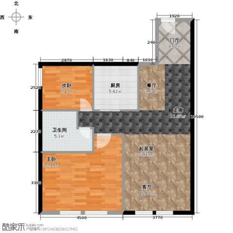 CUV国际公寓104.00㎡户型图